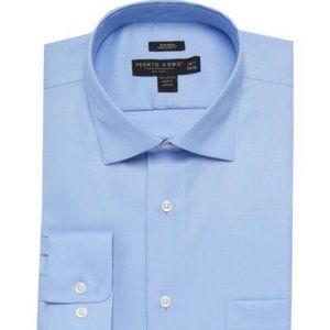 Pronto Uomo Dress Shirt Blue 16 32/33